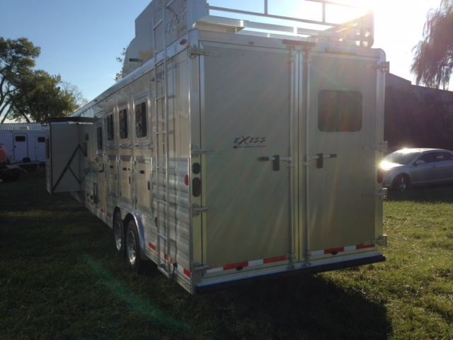 Bison Horse Trailers >> 2016 Exiss 4 Horse Trailer with Living Quarters - August Trailer Sales